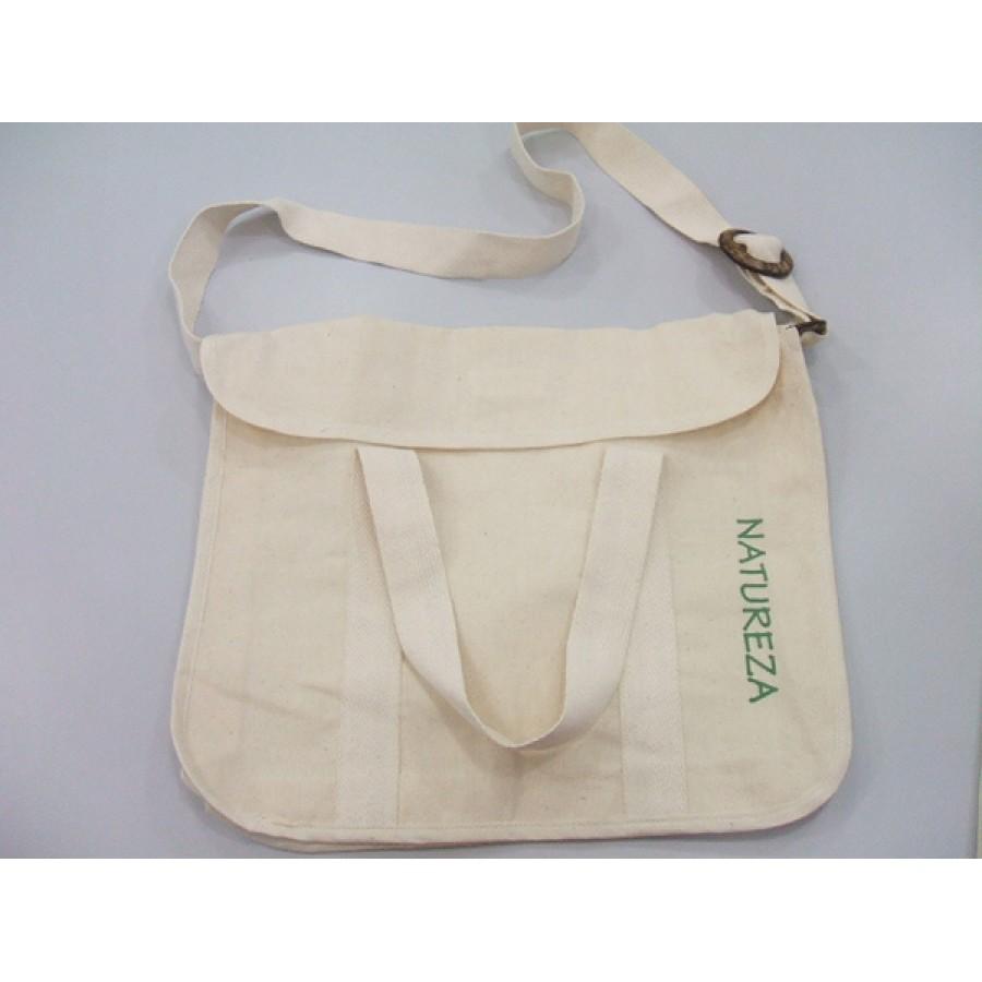 Bolsa de tecido cru : Cod bolsa carteiro com al?a de m?o algod?o cru